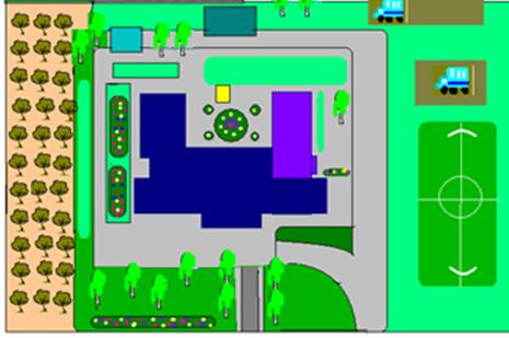 1. Школьный яблоневый сад является гордостью...  План схема участка.  Инструкции по технике безопасности.
